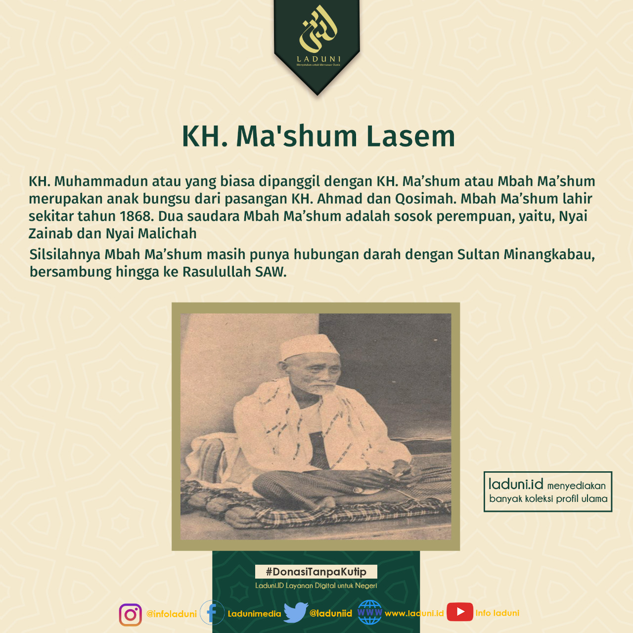 Biografi KH. Ma'shum Lasem